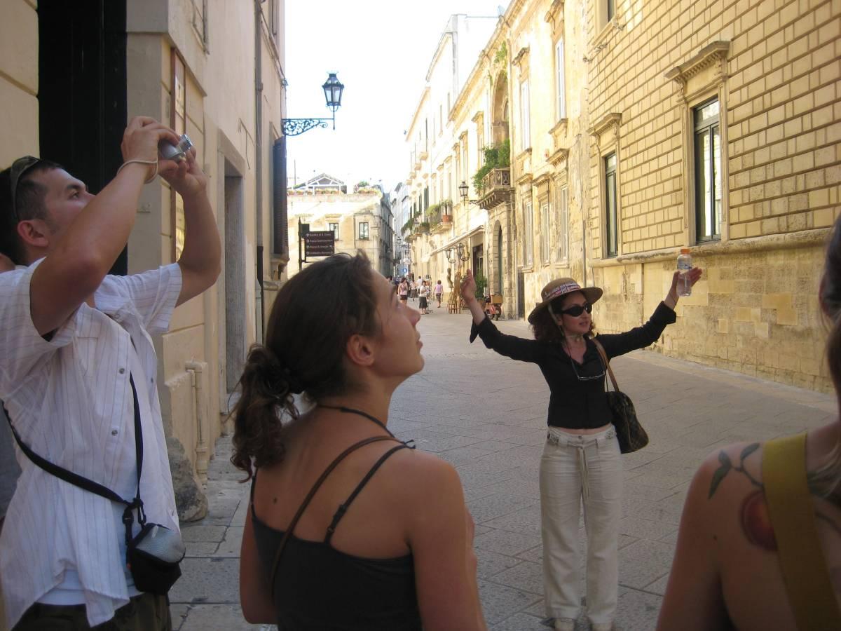 Walking through Lecce